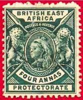 Почтовая марка Британской Восточной Африки