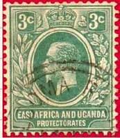 Почтовая марка Британской Восточной Африки и Уганды