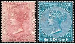Почтовые марки Британской Колумбии и Ванкувера
