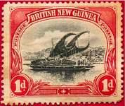 Почтовая марка Британской Новой Гвинеи