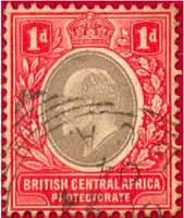 Почтовая марка Британской Центральной Африки