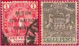 Почтовые марки Британской Южно-Африканской Компании