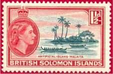 Почтовая марка Британских Соломоновых о-вов