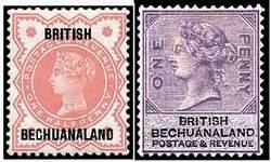Почтовые марки Британского Бечуаналенда