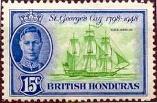 Почтовая марка Британского Гондураса
