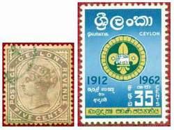 Почтовые марки Цейлона
