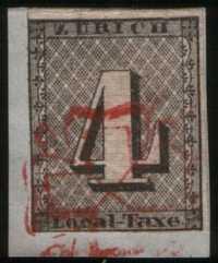 Почтовая марка Цюриха