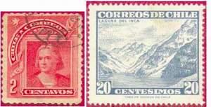 Почтовые марки Чили