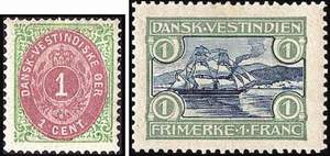 Почтовые марки Датской Вест-Индии