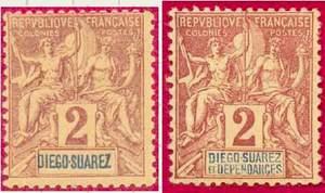 Почтовые марки Диего-Суарец.