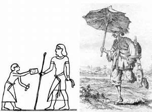 Древнеегипетский и древнекитайский рисукнки, отображающие деятельность почты.