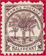 Почтовая марка Самоа (почта Дэвиса).