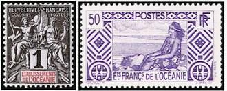Почтовые марки Французской Океании