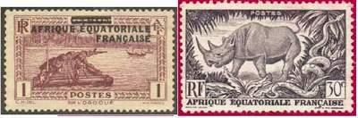 Почтовые марки Французской Экваториальной Африки