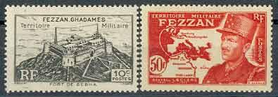 Почтовые марки Феццана
