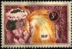 Почтовая марка Французской Полинезии