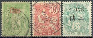 Почтовые марки Французской почты в Китае