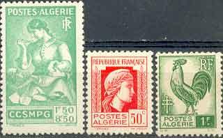 Почтовые марки Французского КНО в Алжире