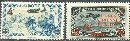 Почтовые марки Свободной Франции в Леванте