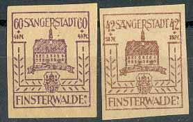 Почтовые марки Финстервальде