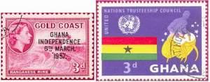 Почтовые марки Ганы