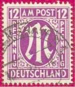 Почтовая марка английской и американской оккупационных зон