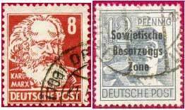 Почтовые марки советской оккупационной зоны