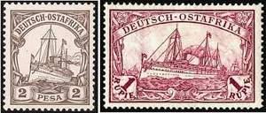 Почтовая марка Германской Восточной Африки