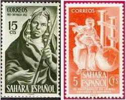 Почтовые марки Испанской Сахары
