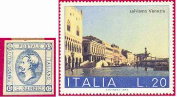 Почтовые марки Италии