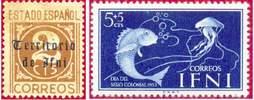 Почтовые марки Ифни
