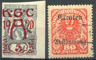 Почтовые марки Каринтии