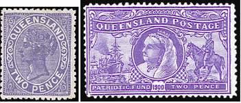 Почтовые марки Квисленда