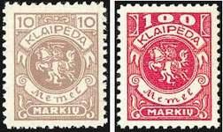 Почтовые марки Клайпеды