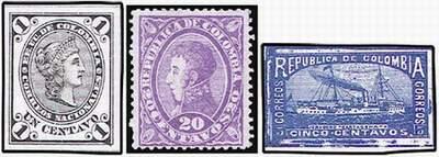 Почтовые марки Колумбии