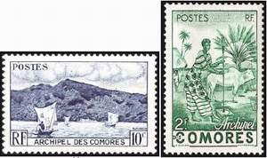Почтовые марки Коморских островов
