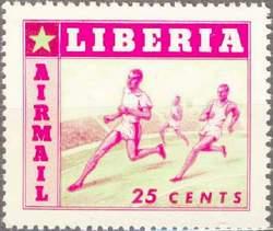 Почтовая марка Либерии