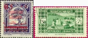 Почтовые марки Ливана