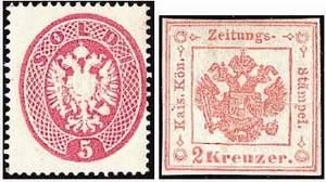 Почтовая марка Ломбардии и Венеции