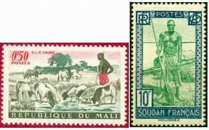 Почтовая марка Мали