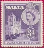 Почтовая марка Мальты