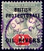 Почтовая марка британского протектората Масляной Реки