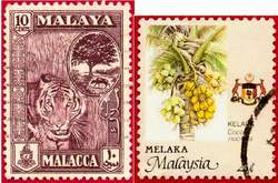 Почтовые марки Мелаки