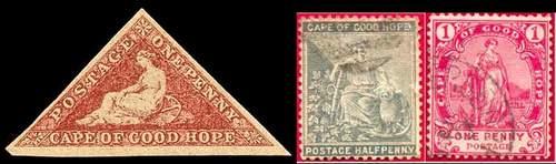 Почтовые марки Мыса Доброй Надежды (Капская колония)
