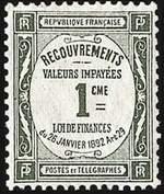 Марка для почтовых поручений (Франция)