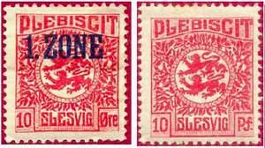 Марки плебисцитные (Шлезвиг)