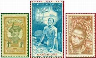 Почтовые марки Мартиники