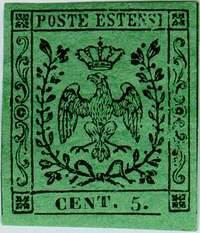 Почтовая марка Модены