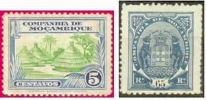 Почтовые марки Компании Мозамбика