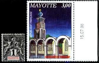 Почтовые марки Майотты
